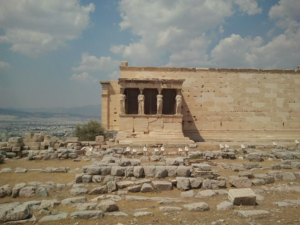 The Erechteion in the Acropolis, athens greece