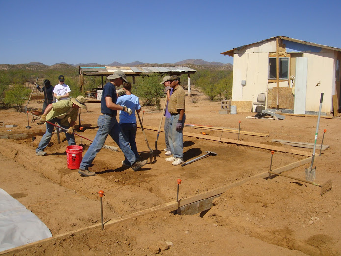laying foundation for a home