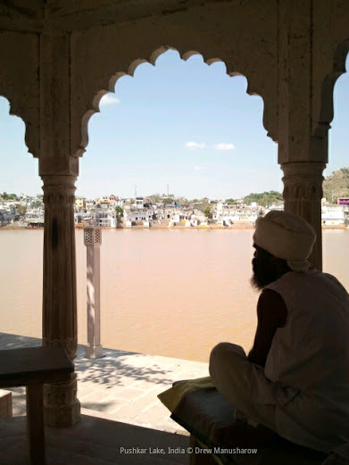 Drewmanity-pushkar-india-lake-baba-man