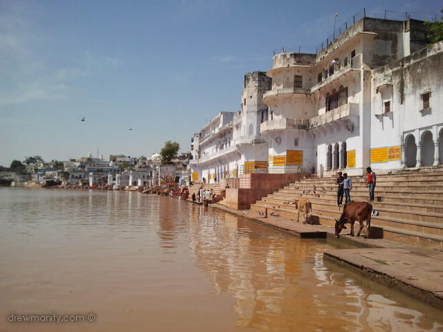 Pushkar Lake is a sacred lake of the Hindus. Pushkar Lake is surrounded by 52 bathing ghats.