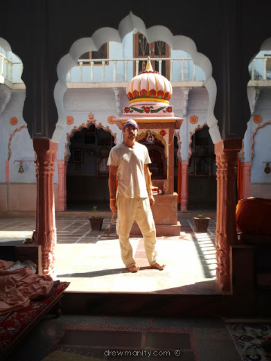In one of the small temples in Pushkar.