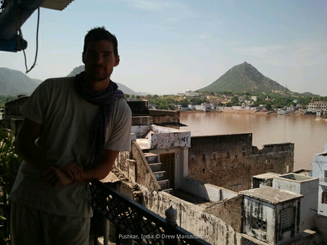 Drewmanity-pushkar-india-lake-view