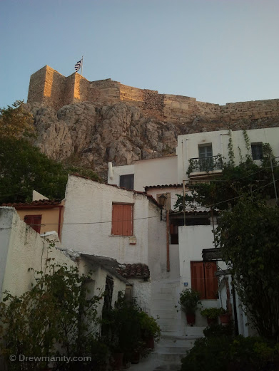 historic plaka district athens acropolis