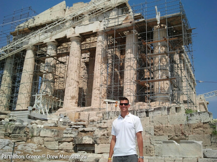 drewmanity and the Parthenon athens greece