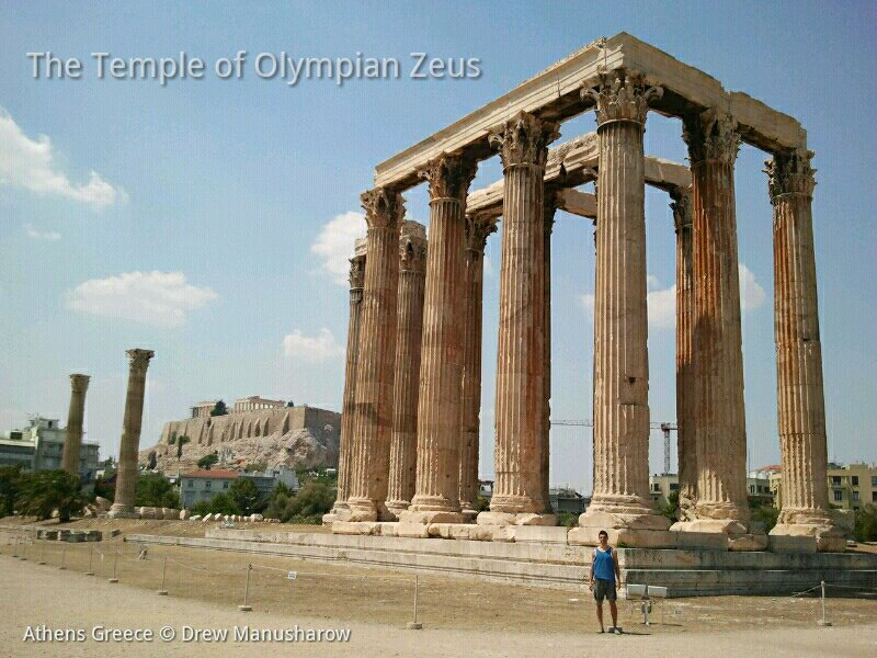 athens greece, The Temple of Olympian Zeus, also known as the Olympieion or Columns of the Olympian Zeus