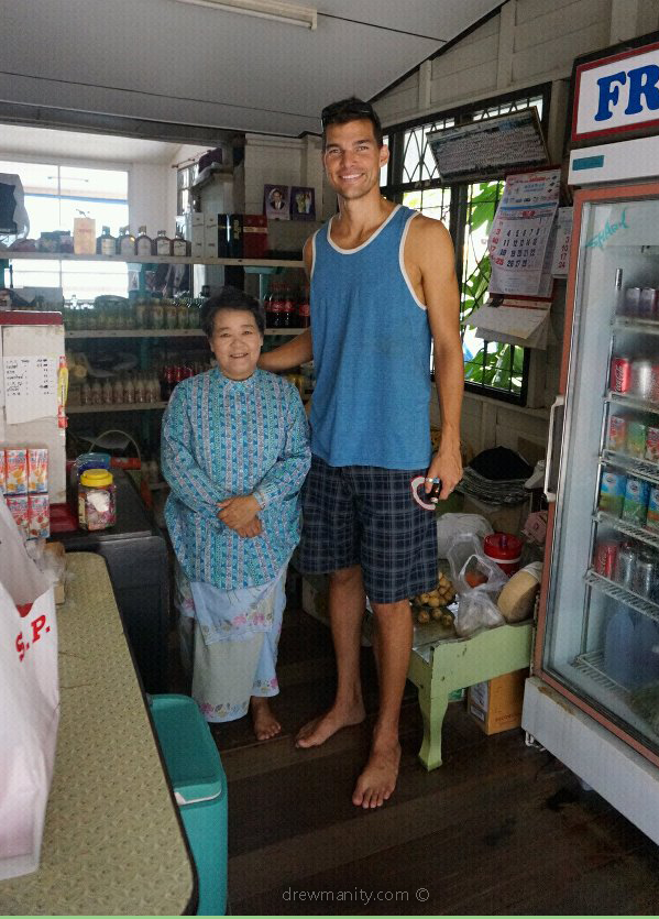 Hua Hin Thai woman and tall man