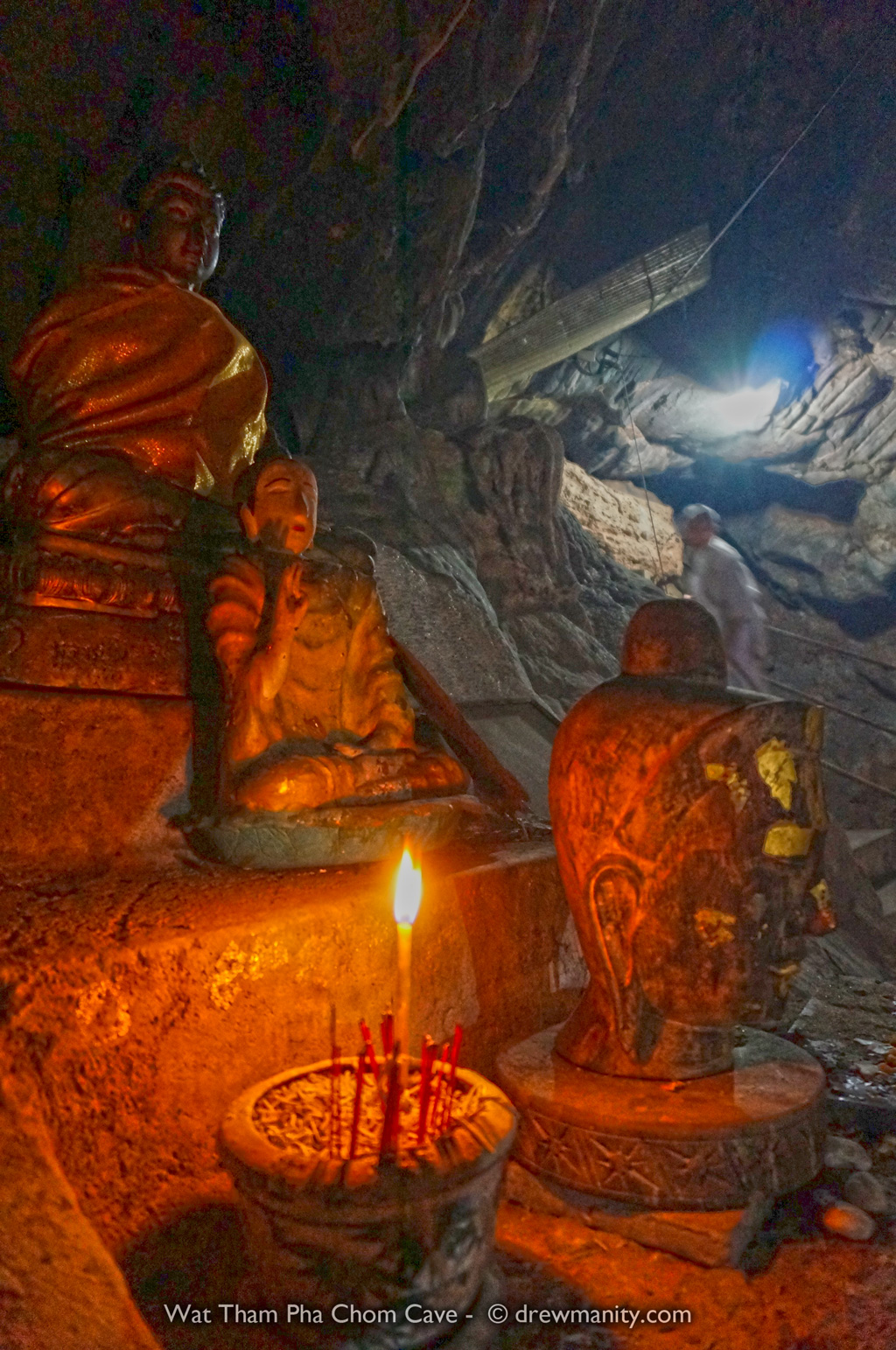These caves are under a wat in mae sai- A temple up in the hills. It was mysterious.