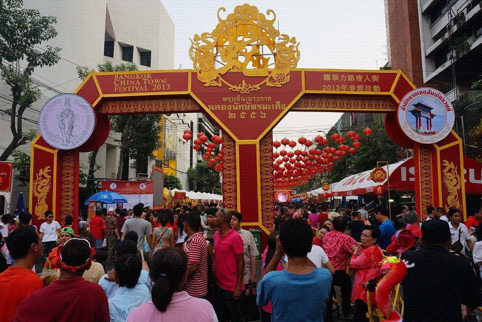 China Town Bangkok Thailand. Happy Chinese New Year 2013 - The Year of the Snake.