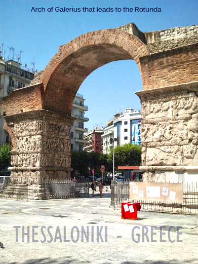 Arch of Galerius that leads to the Rotunda, thessaloniki