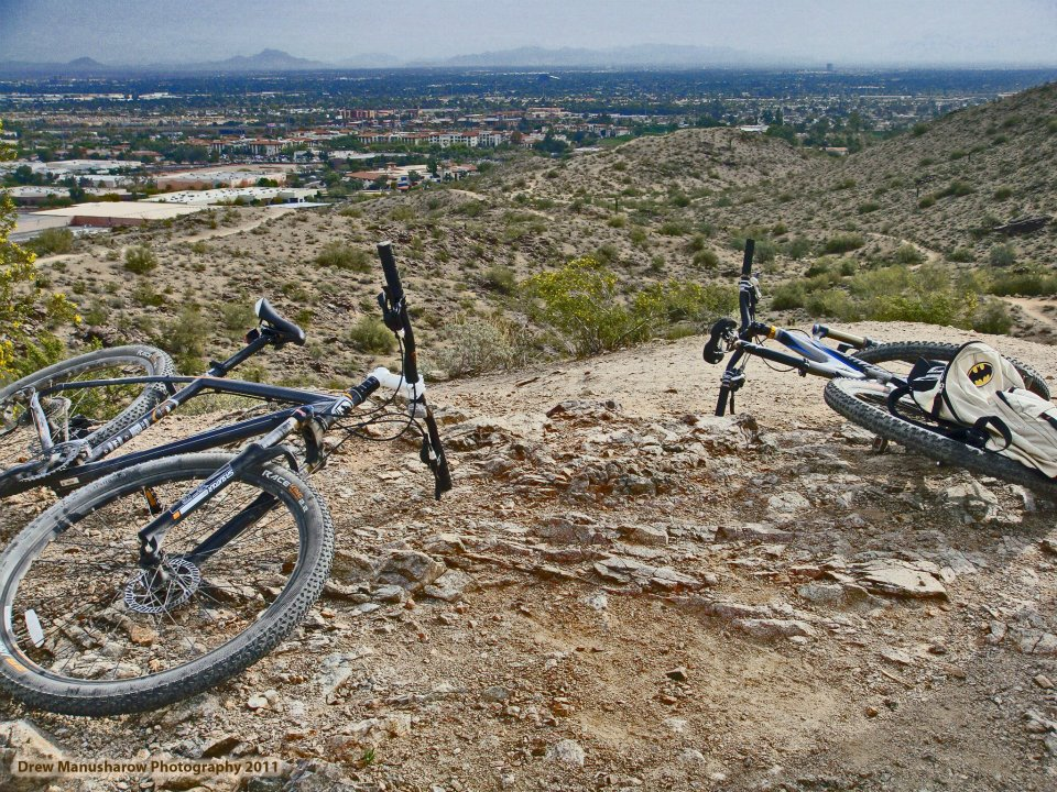 mountain bikes Ahwatukee, arizona South mountain park. mountain biking