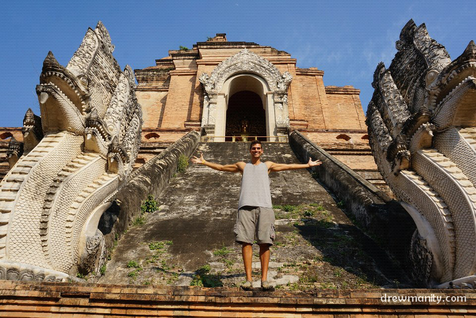 Wat Chedi Luang, Chiang Mai Thailand Buddhist Temple