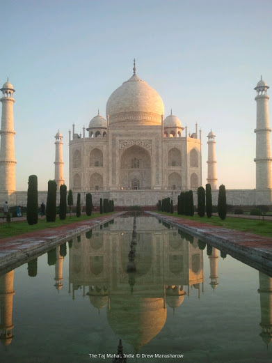 The Taj Mahal- Unesco World Heritage site. Agra District of Uttar Predesh, India.